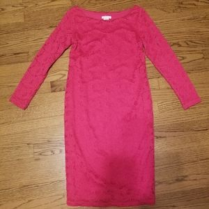 Lace pink Ingrid&Isabel midi bodycone dress